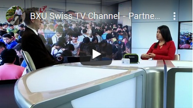 BXU Swiss TV - Partner Yishi Pan and YouYou Mobile