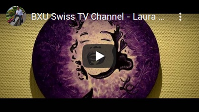 BXU Swiss TV - Laura Chaplin Hotel art exhibition in the Vitznauerhof