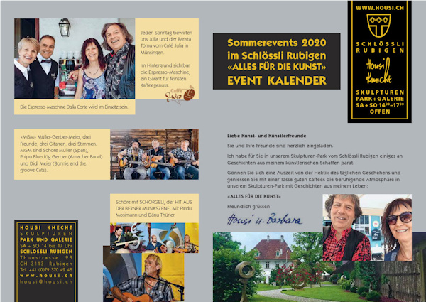 Events of 'Housi Knecht': Sommerevents 2020 im Schloss Rubigen
